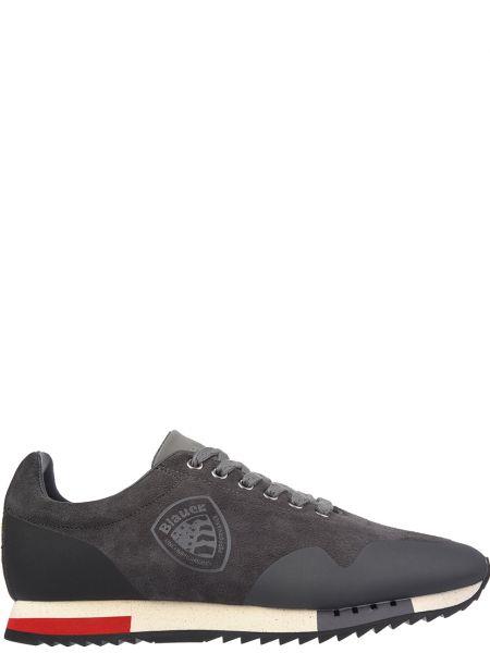 Кожаные кроссовки - серые Blauer