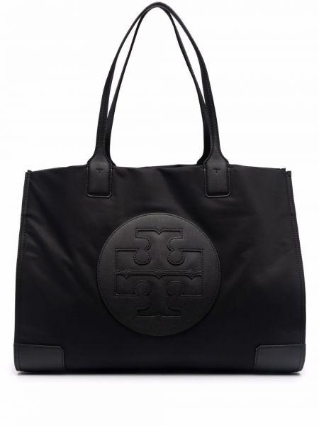 Кожаная сумка - черная Tory Burch
