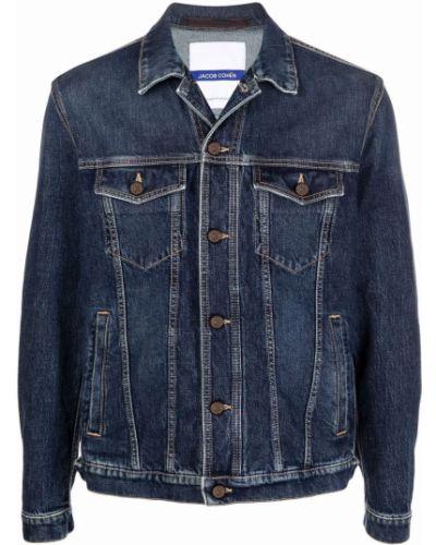 Синяя джинсовая куртка длинная Jacob Cohen