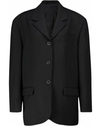 Шерстяной черный пиджак Acne Studios