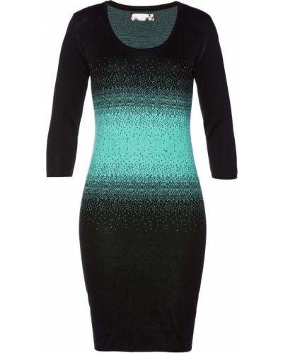 Облегающее платье жаккардовое вязаное Bonprix