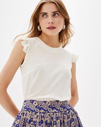 Блузка с рюшами белая Irina Vladi