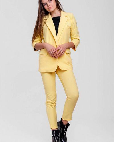 Облегающий желтый брючный костюм Sfn