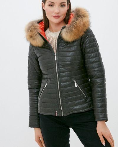 Кожаная куртка хаки Oakwood