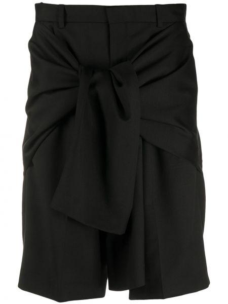 Шерстяные черные шорты с карманами с завязками Cmmn Swdn