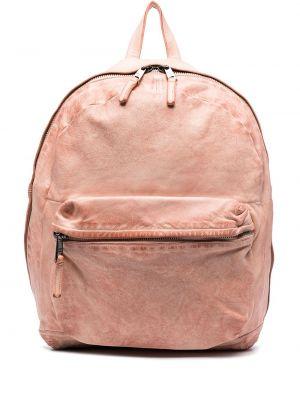 Różowy plecak skórzany Giorgio Brato