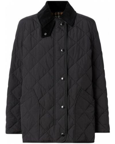 Черная кожаная куртка с подкладкой Burberry
