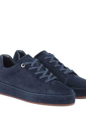 Кожаные кроссовки - синие Loro Piana