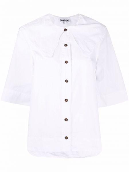 Biała bluzka bawełniana Ganni