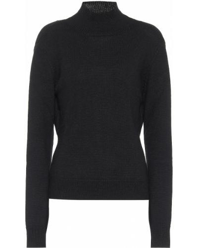 Шерстяной черный свитер Monse