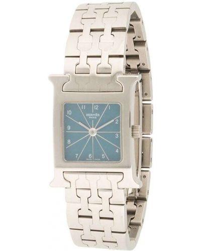 Со стрелками серебряные кварцевые часы квадратные Hermes