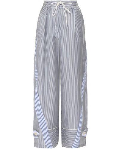 Укороченные брюки расклешенные в полоску Sacai