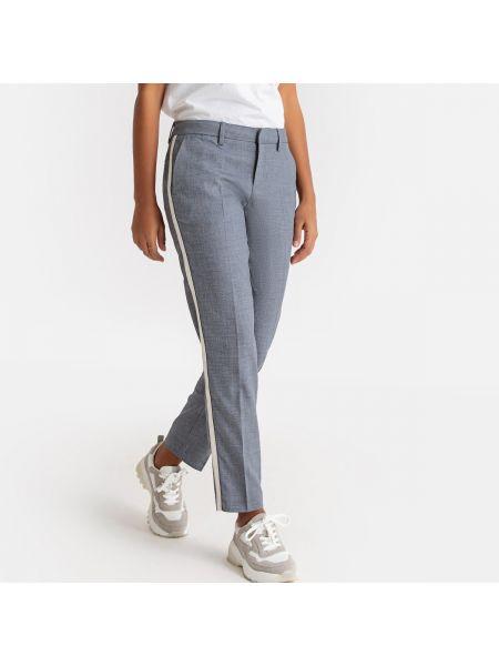 Серые брюки с воротником с поясом из вискозы Sud Express