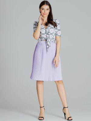 Fioletowa spódnica materiałowa Lenitif