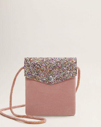 Розовая сумка из искусственной кожи Mango Kids