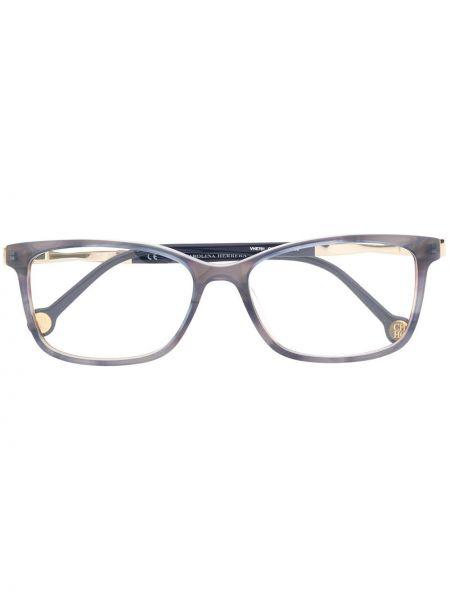 Очки прямоугольные металлические хаки Ch Carolina Herrera