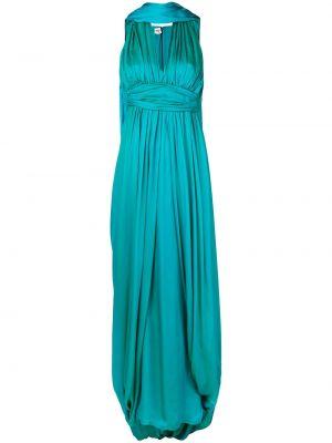 Шелковое плиссированное платье винтажное со складками Hermès