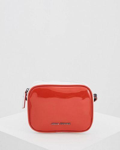 Красная сумка через плечо Armani Exchange