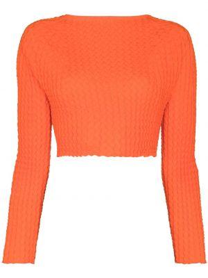 Топ с длинными рукавами - оранжевый Issey Miyake