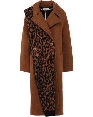 Пальто бежевое шерстяное Sonia Rykiel