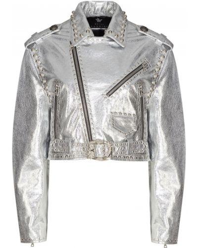Кожаная куртка с заклепками с карманами Maison Bohemique
