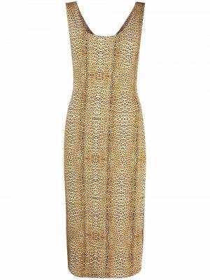 Платье леопардовое - коричневое Just Cavalli