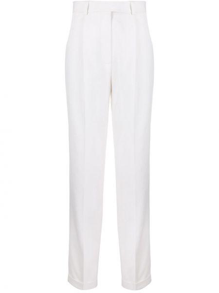 Прямые деловые брюки с карманами с высокой посадкой Victoria Beckham