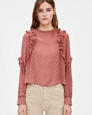 Блузка розовая с рюшами Pull&bear