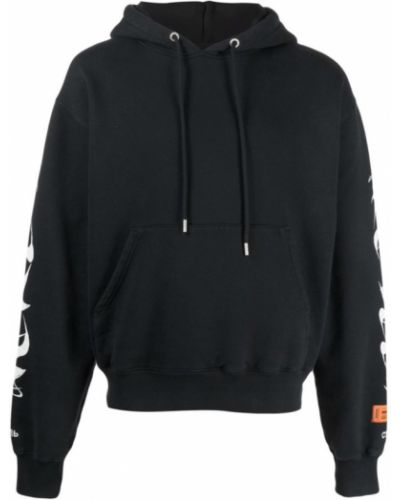 Bluza oversize z kapturem - czarna Heron Preston