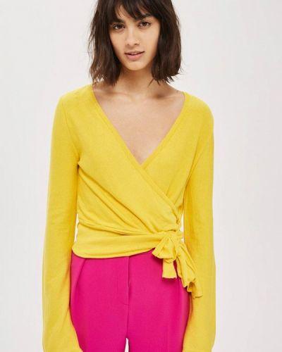 Желтый пуловер 2018 Topshop