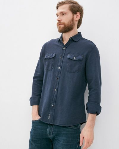 Синяя с рукавами рубашка Mavi