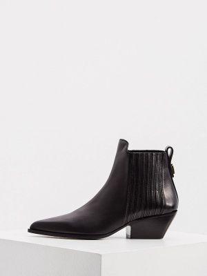 Черные зимние ботинки Furla
