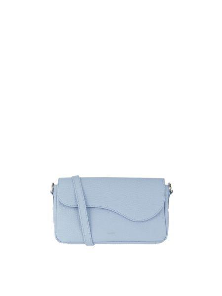 Niebieska torba na ramię skórzana Treats