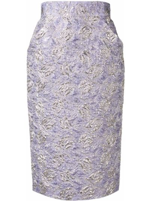Шелковая юбка миди - фиолетовая Roseanna