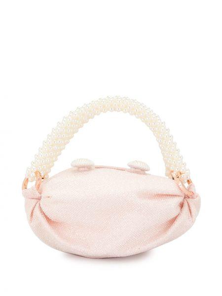 Розовая сумка-тоут из вискозы 0711
