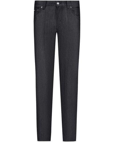 Серые прямые джинсы Dolce & Gabbana