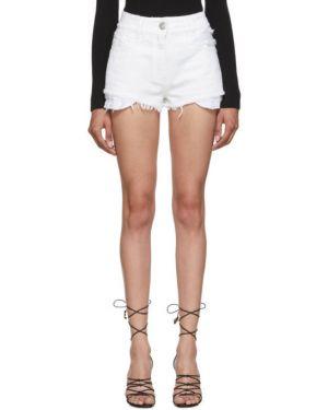 Джинсовые шорты с завышенной талией с карманами Balmain
