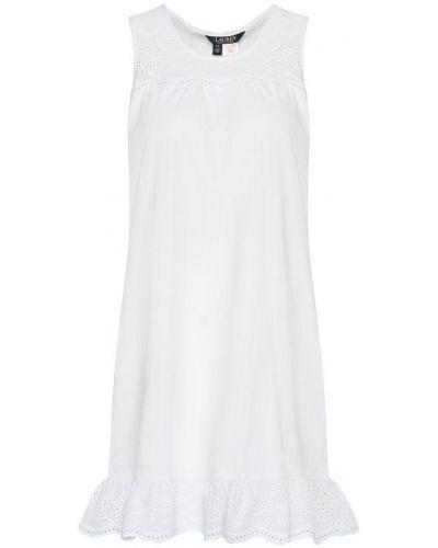 Biała koszula nocna Lauren Ralph Lauren