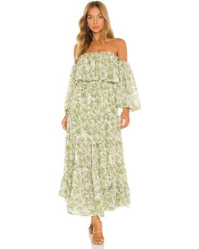 Платье с декольте - зеленое Misa Los Angeles