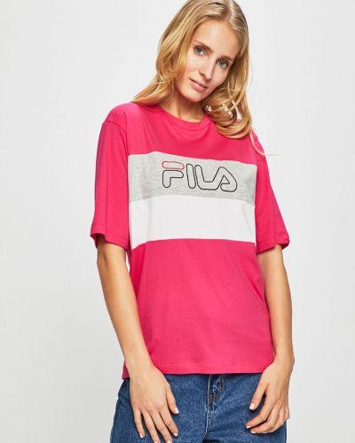 Футболка розовый эластичный Fila