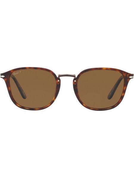 Прямые солнцезащитные очки хаки прямоугольные Persol