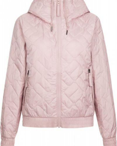 Прямая теплая розовая куртка с капюшоном на молнии Columbia