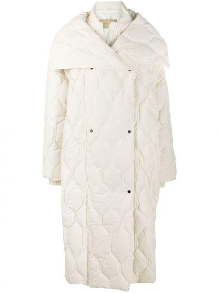 Свободное стеганое пальто оверсайз с воротником на пуговицах Christian Wijnants