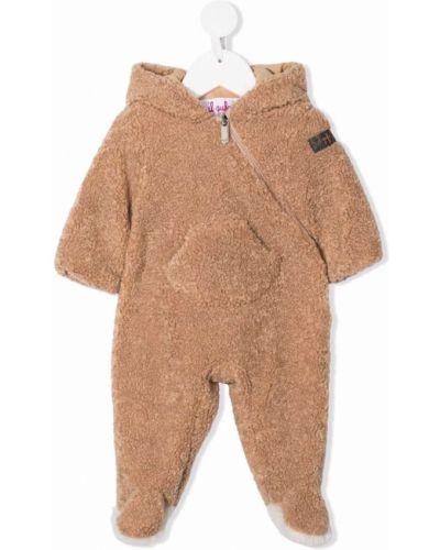 Brązowa piżama bawełniana Il Gufo
