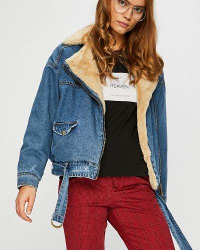 Джинсовая куртка с карманами утепленная Only