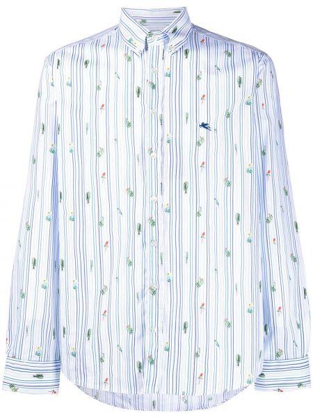 Koszula z długim rękawem długa z paskami Etro