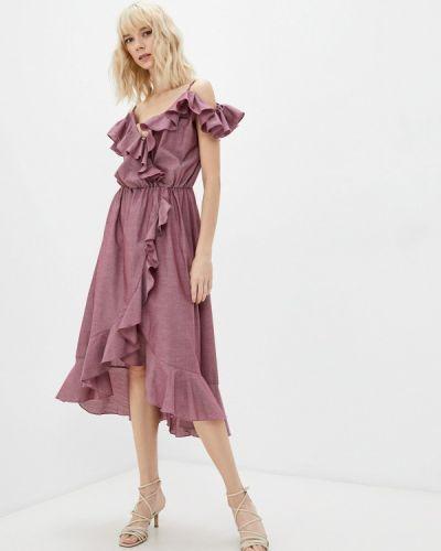 Платье с запахом - розовое Gk Moscow