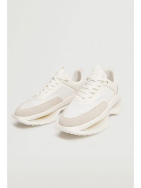Białe sneakersy Mango