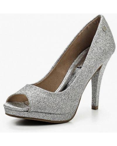 Кожаные туфли с открытым носком на каблуке Xti