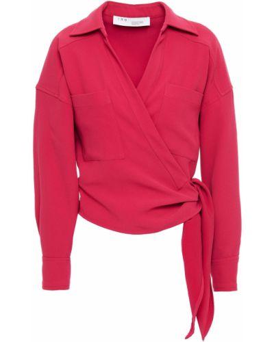 Розовая блузка с карманами из крепа Iro